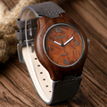 Hot Men Women Simple Wooden Wrist Watch Men Women Genuine Leather Strap Watches Vintage watch Wood Creative Gift 4 Styles W22260