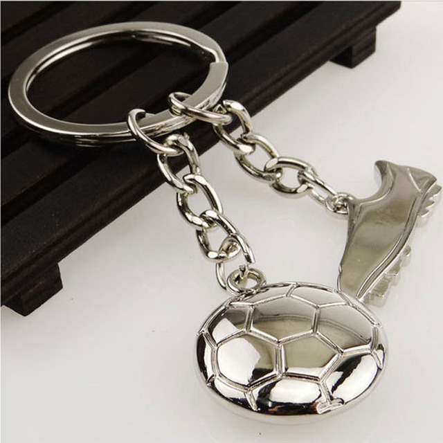 Creative Soccer Shoe music Pendant Keychain Silver color Key Chain Key Rings Jewelry Accessories Gift for Men Boys