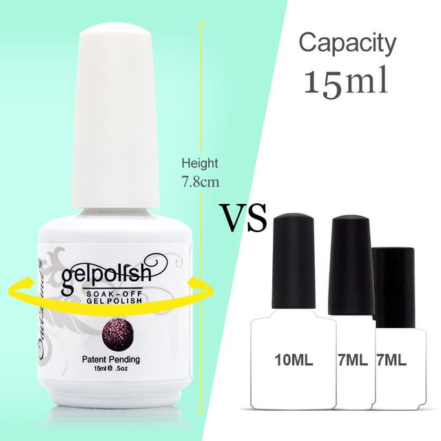 Saviland 1pcs UV Gel Nail Polish 15ml Gelpolish Nail Art Fashion Glitter Colors Optional Varnish LED UV Gel Polish