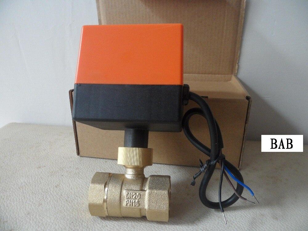 g 3/4 Ac220v Elektrische Antrieb Motorisierte Controller Messing Kugelhahn/drei Draht Zwei 2 Messing Motorventil Waren Des TäGlichen Bedarfs Dn20
