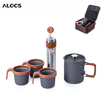 ALOCS CW - K10 Hand Manual Coffee Bean Mill Grinder Outdoor Home French Press Pot Kit Outdoor Stove Мельница