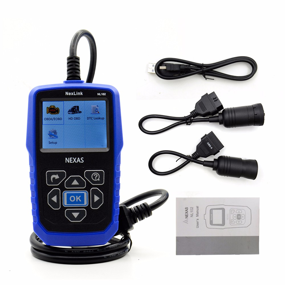 Heavy Duty Truck Diagnostic Scanner NEXAS NL102 OBD OBD2 for Volvo for Renault Truck Engine ABS Brake Diagnostic Tool NL102