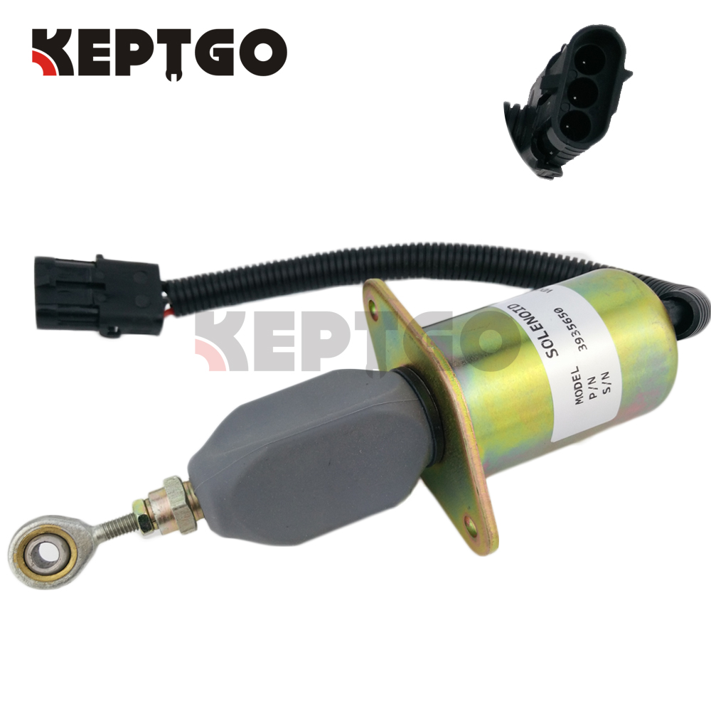 24V 3935650 SA 4765 24 Flameout Diesel Fuel Shut Down Stop Solenoid For Cummins 6CT