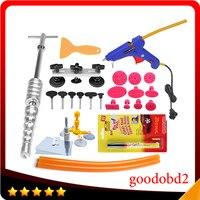 Car Dent Repair Hand Tool set Kit Dent Remover Puller PDR Tool and Metal Glue Gun 100W with Car Repair Pen Scratch Remover