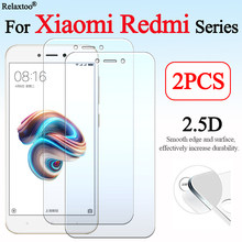 2pcs Protective glass on for xiaomi redmi 4a 5a 6a note 2 3 4 6 pro tempered xiaom redme xiomi xiamei a4 a5 a6 glas xaomi film(China)