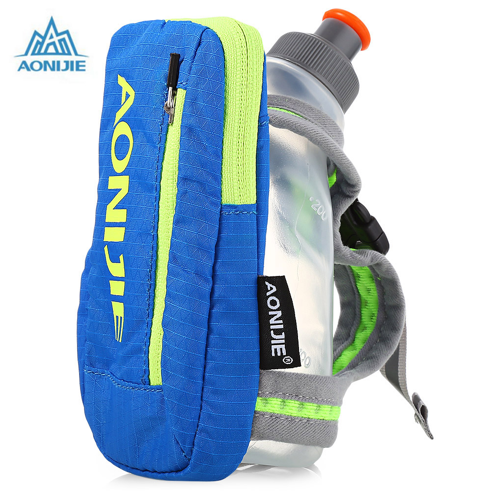 AONIJIE Outdoor Running Bag 250ML Handheld Water Bottle Hydration Pack Hiking Cycling Running Kettle Hand Bag For 4.7 Inch Phone