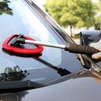 Geri çekilebilir Araba Yıkama Fırçası araç ön camı Temizleme Fırçası Mikrofiber Pencere Kazıma Sis Temizleme Temizleme Fırçası Yeni