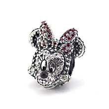Fits Pandora Bracelet 925 Sterling Silver Jewelry Paving Zircon Minnie Beads Original Charms DIY Making