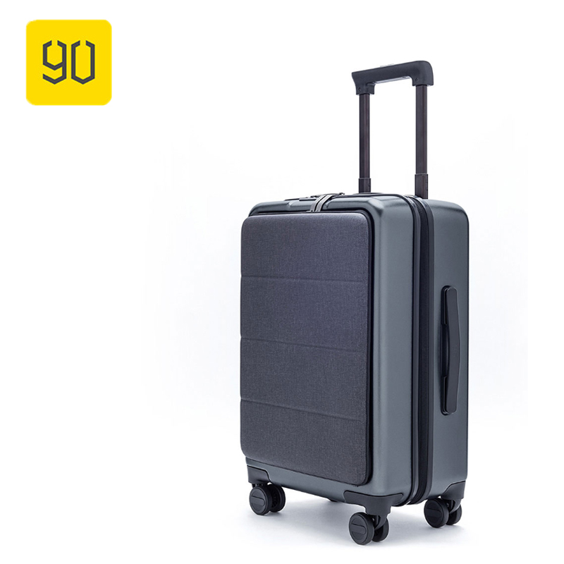 90FUN font b Xiaomi b font Carry On Luggage 20 Front Pocket Spinner Business Double TSA