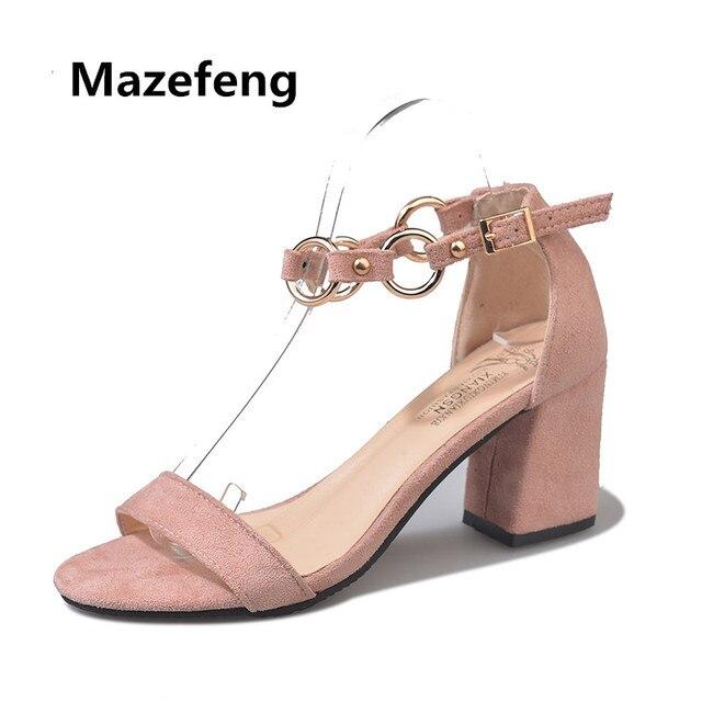 a28174338bd43 2018 nuevo estilo Zapatos Mujer verano tacones altos talón sandalias señora  banquete chica estudiante Zapatos Mujer