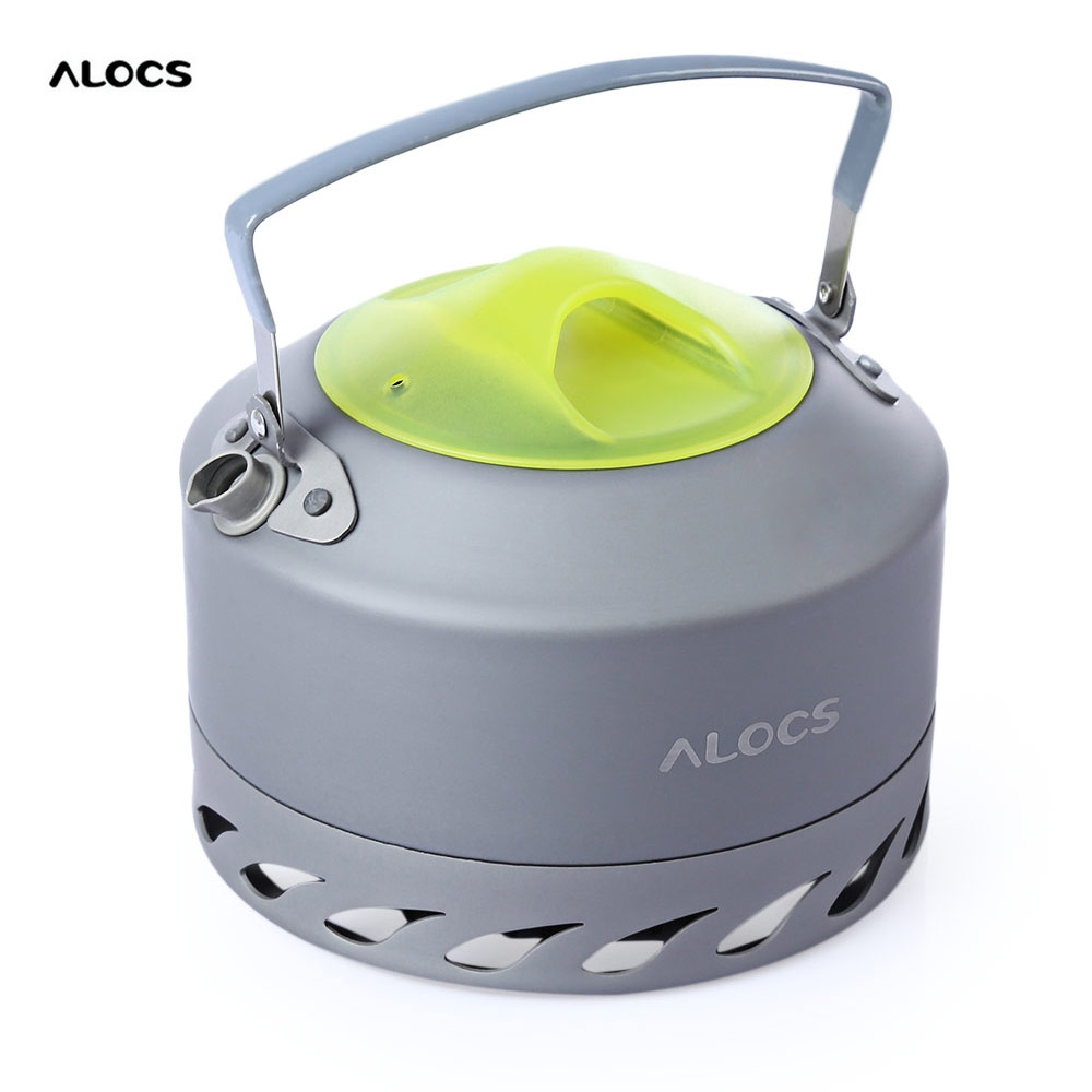ALOCS CW - K07 0.9L Aluminum Alloy Water Kettle Compact High Quality Portable Camping Picnic Coffee Water Kettle With Mesh Pouch от Aliexpress INT