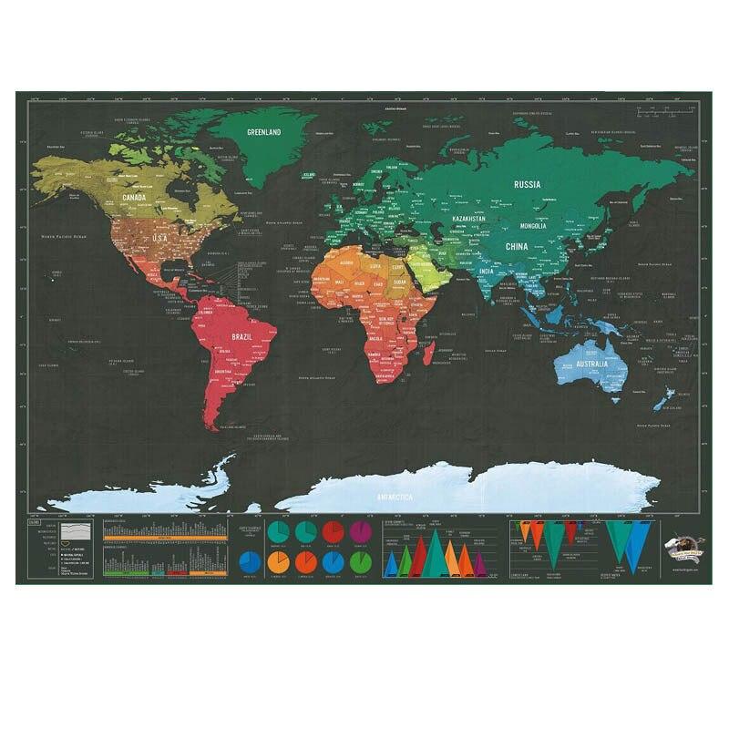 Mini black Scratch Scratch Map travel small black version