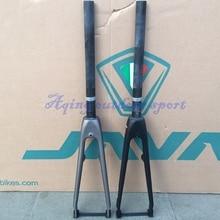 Buy online JAVA 451 Carbon Bike Rigid Fork For 20″ 1 1/8″ Mini velo Bike Forks Support Caliper Aero Brake