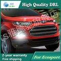 Frete grátis! 12 V 6000 k LED DRL Daytime running luz para Ford Ecosport 2013 2014 nevoeiro quadro lâmpada luz de Nevoeiro estilo do carro