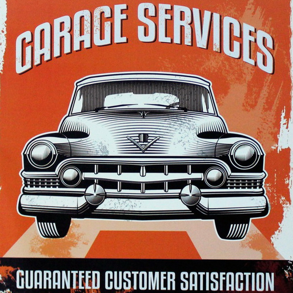 GARAGE SERVICE Metal Tin Sign Vintage Plate Car Decor Plate ...