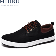 цена на MIUBU New Arrival Canvas Shoes For Men Spring Summer Comfortable Casual Shoes Mens Fashion Lace-Up Brand Flat Loafers Shoes