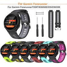 Silicone Two-Color Comfortable Replacement Strap for Garmin Forerunner 735XT 630 620 235 230 220
