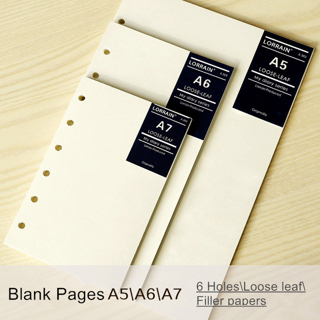 Sheets All Blank Loose Leaf Notebook Refill Filofax A A
