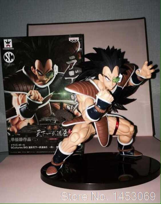 Anime Dragon Ball Z Resurrection F Raditz NO.21 PVC Action Figure Collectible Model Toy 18cm KT1631 shfiguarts dragon ball z vegeta pvc action figure collectible model toy 6 5 16cm