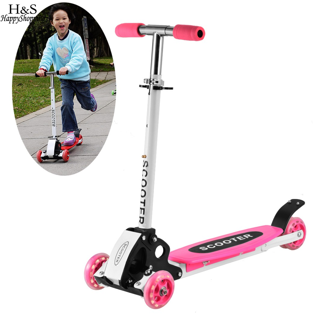 Ancheer Foot Scooter for Kids Adjustable Three Wheels Children Adult Alloy Foldable Skateboards Roller Kick Scooter Skate boards