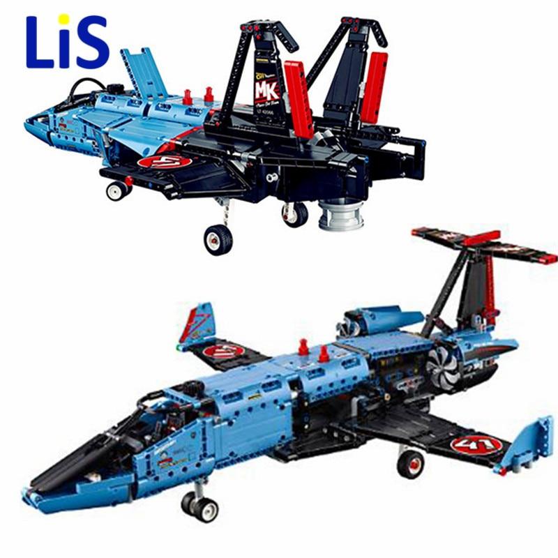 Lis 20031 Technician Series The Jet Racing Aircraft Air Race Jet Building Block 1151Pcs Bricks Toys Gift for Gift 42066 цена и фото