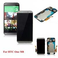 Di alta Qualità Grigio Display LCD Touch Screen Digitizer con Sostituzione Complessivo Telaio per HTC ONE M8