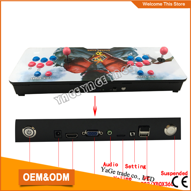 2015 Newest Joystick Consoles ,DIY arcade video game machine with 520 in 1 game pcb board Pandora's Box 3