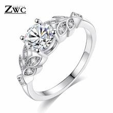 ZWC модные Кристальные серебристые женские обручальные кольца с цирконием, кубические изящные кольца для девочек из белого розового золота, размеры 6, 7, 8, 9, ювелирные изделия