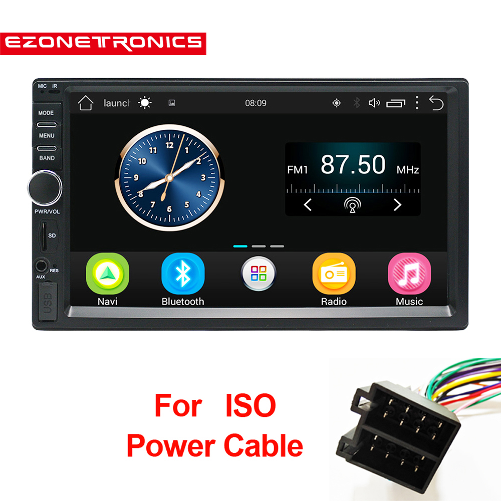 2 Din Android 6 0 Car Radio Stereo 7 Universal Car GPS Navigation Wifi Bluetooth USB