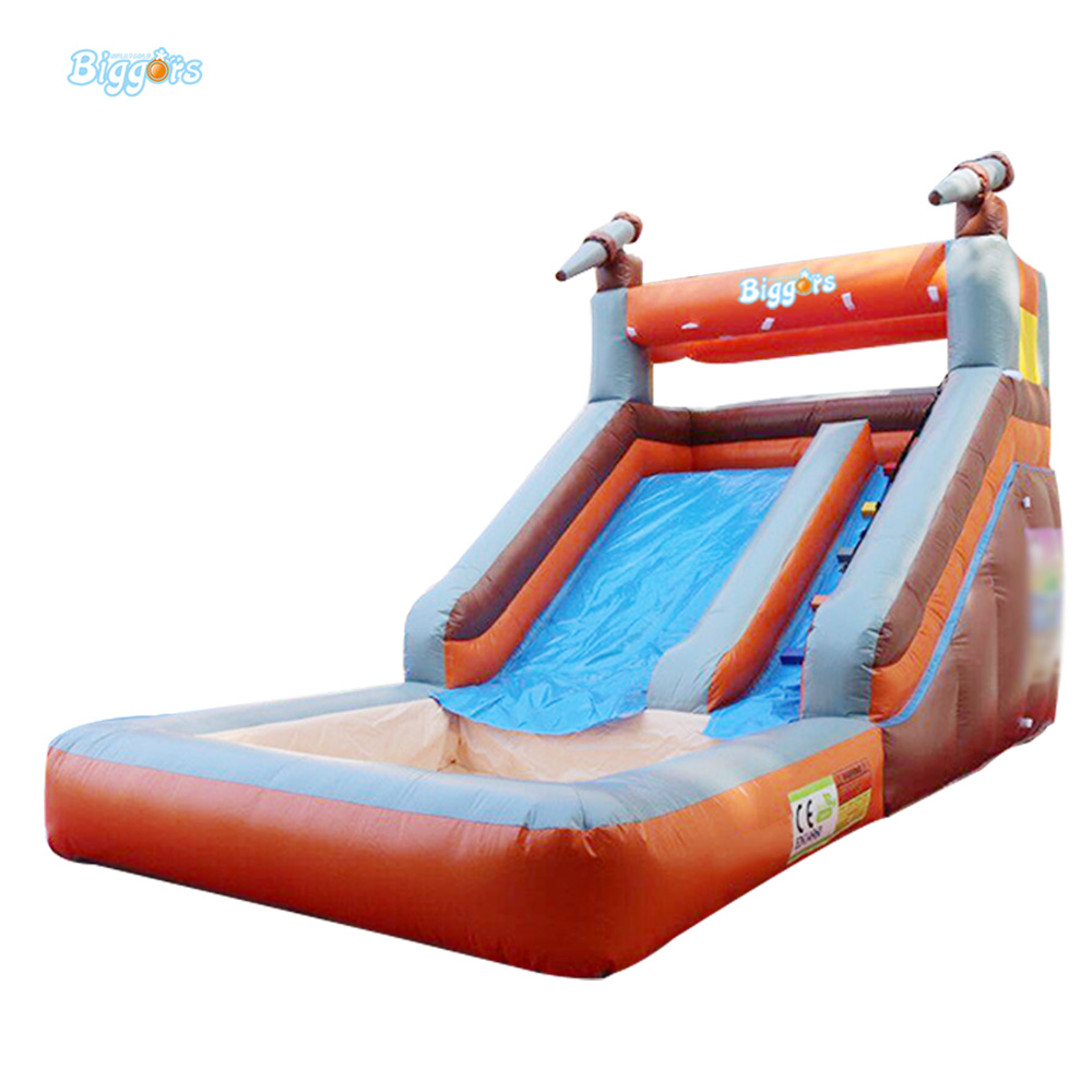 Custom Size Inflatable Pool Slide Inflatable Water Slide For Kids And Adults Combo Dual Slides backyard slides park inflatable water slide with pool for kids