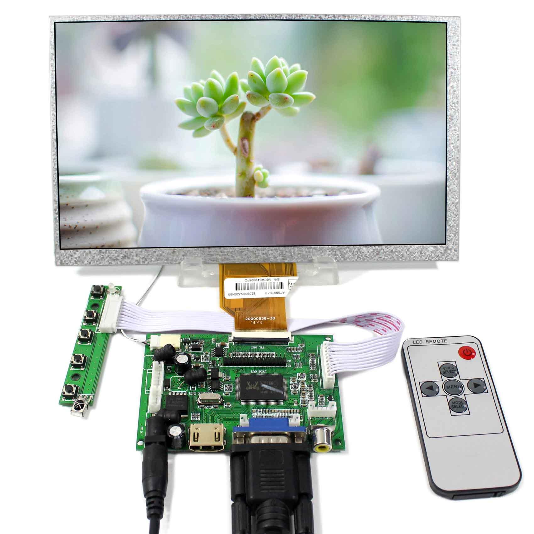 HDMI VGA 2AV LCD Controller Board 9 Inch AT090TN10 AT090TN12 800X480 LCD Layar
