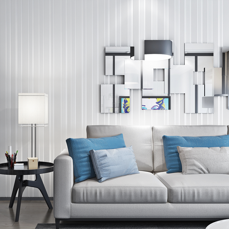Home Improvement Living Room Background Wall Paper Vertical Striped Wallpaper For Bedroom Walls Modern Papier Peint Silver Gray wallpaper for walls 3 d modern trdimensional geometry 4d tv background wall paper roll silver gray wallpapers for living room