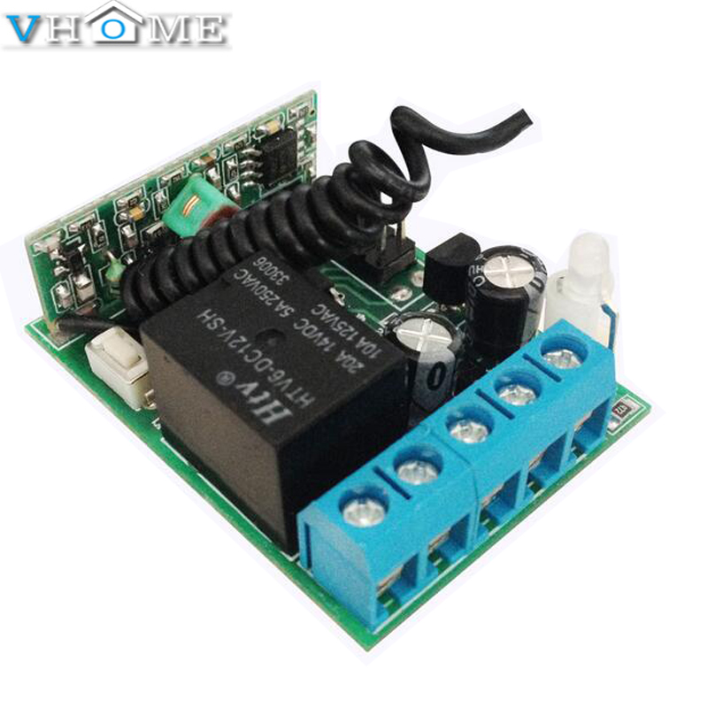 Vhome Universal New type Smart Home 315MHz/433MHzWireless intelligent learning switch 1CH 1 CH DC 12V Learning controller module