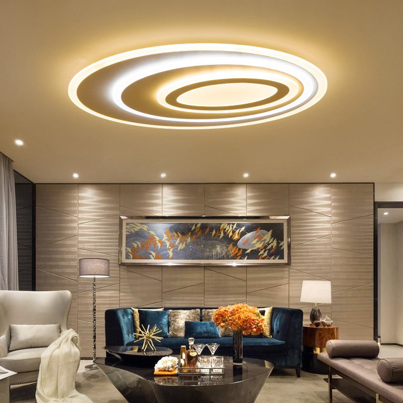acrylic led ceiling lights contemporary super bright high end luxury ceiling lamp remote control stepless dimming for lounge