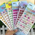 Venta caliente Chico Scrapbook Sticker Autoadhesivo 3d Acrílico Corazón de la perla Diy Pegatinas Accesorios para regalos de Los Niños de Kindergarten juguete