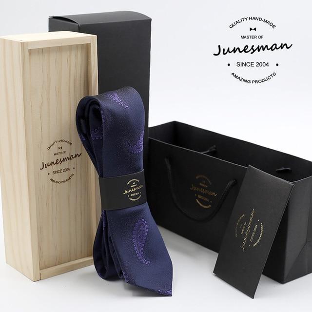 2106 neck tie man slim wedding necktie male print mariage kravat gent 6cm designer neckwear husband boy friend gift wool box