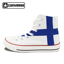 Finland Flag Shoes Converse Chuck Taylor Man Woman Custom Design Hand Painted Canvas Sneaker Gifts for