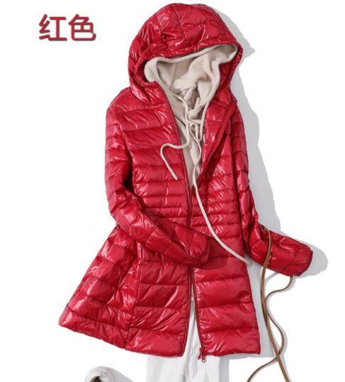 08de5bc27 SEDUTMO Winter Ultra Light Long Womens Down Jackets Plus Size 7XL Duck Down  Coat Puffer Jacket Slim Hooded Parkas ED621