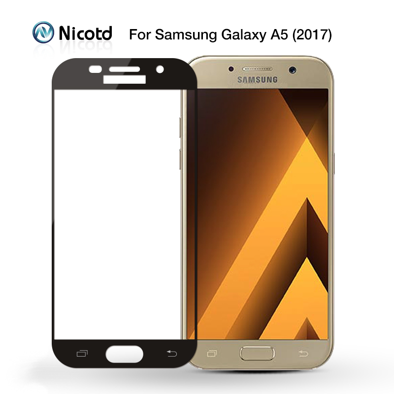 Image 3 - Full Cover Tempered Glass for Samsung Galaxy S6 S7 J2 J5 J7 Prime Note 4 Note 5 Galaxy A3 A5 A7 2016 2017 Screen Protector Film-in Phone Screen Protectors from Cellphones & Telecommunications