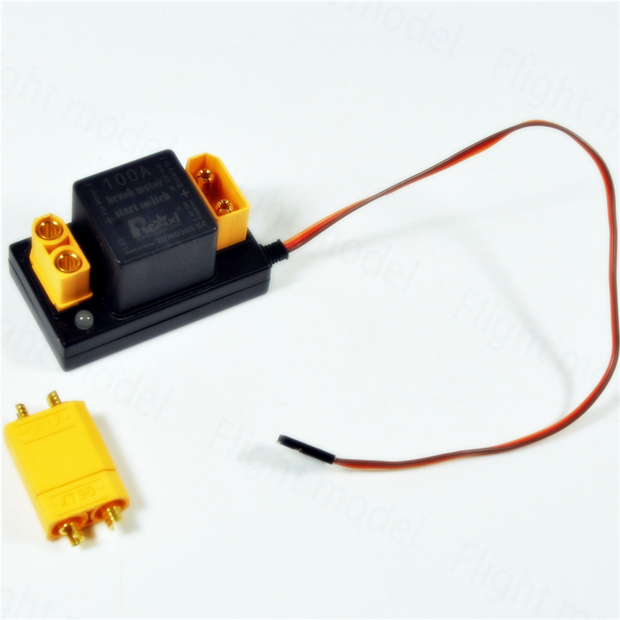 Rcexl RC Airplane 100A Brush Motor Electronic Switch For EME Starter Above 35cc image