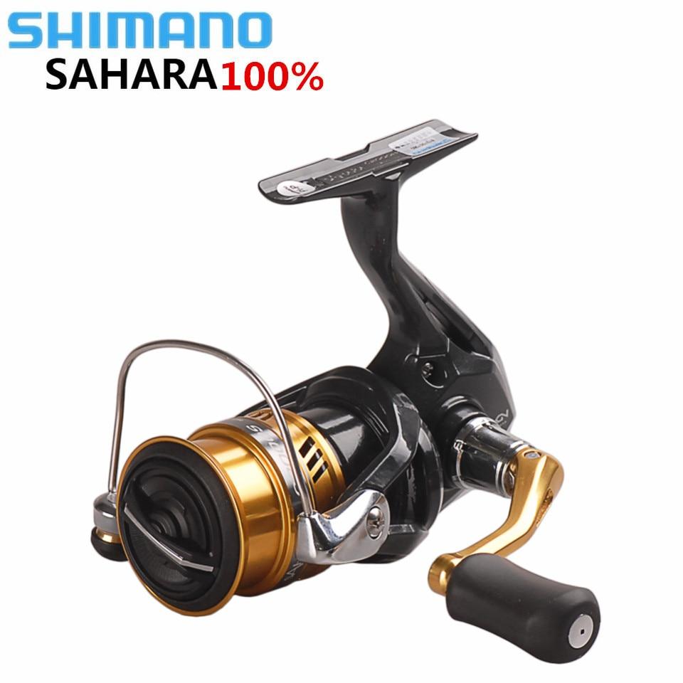 NEW Original SHIMANO SAHARA C2000HGS 2500HGS C3000 Spinning Fishing Reel 5BB Hagane Gear Saltwater Carp Fishing Reel Carretilha shimano sahara c3000 fi