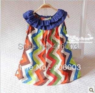2013 для маленьких девочек Chevron Ткань платья для девочек одежда на выход  оптовая продажа b28f4cabd4f