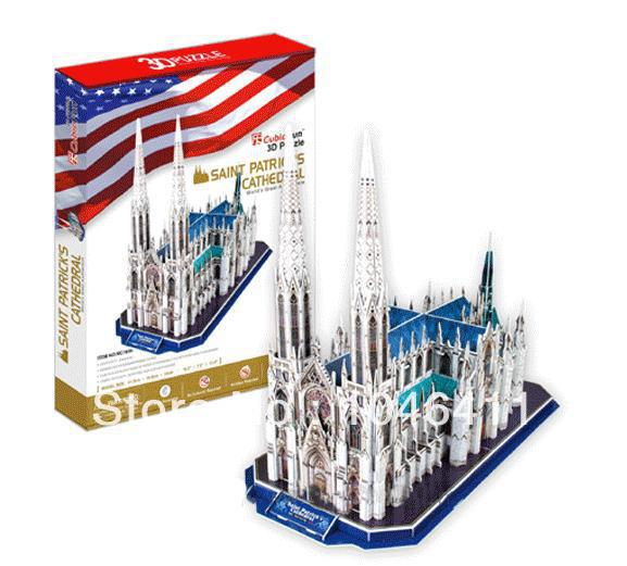 St. Patrick's Cathedral CubicFun 3D educational puzzle Paper & EPS Model Papercraft Home Adornment for christmas birthday gift wat phra kaew cubicfun 3d educational puzzle paper