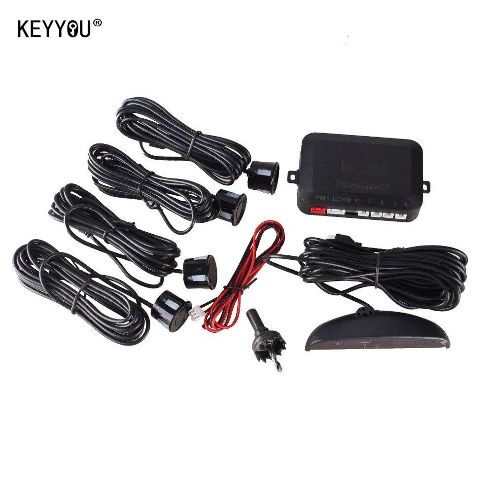 Prix pour KEYYOU 1 Set Voiture LED Parking Capteur Kit Affichage 4 Capteurs pour toutes les voitures Assistance N ° Radar De Sauvegarde Moniteur Système