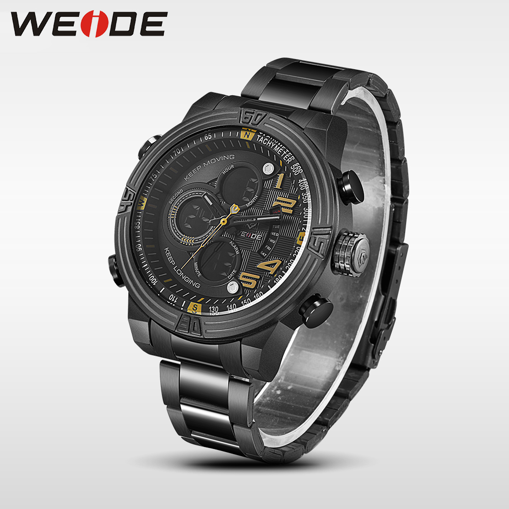 WEIDE New Men Quartz Casual Watch Army Military Sports Watch Waterproof Back Light Men Watches alarm Clock erkek kol saati jung weide 2017 new men quartz casual watch army military sports watch waterproof back light alarm men watches alarm clock berloques