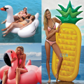 150cm 60inch Giant Inflatable Swan Pool Float Flamingo Air Mattress 180cm Pineapple Swimming Board Island Beach Water Sport Toys