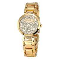 BAOSAILI Top Brand Fashion Bling Bling Crystal Watches Luxury Crystal Quartz Analog Women Diamond Watches Ladies