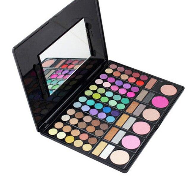 1 Unid Maquillaje Paleta de 78 Colores de Sombra de Ojos Natural Sombra de Ojos Paleta Rostro Rubor Paleta de Sombra de ojos Maquillaje Cosméticos de Belleza Accesorios