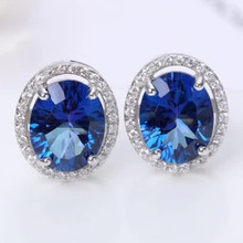 new-designed trendy gemstone fine jewelry 925 sterling silver natural blue topaz charm stud earrings for women [meibapj natural aquamarine gemstone trendy ring for women real 925 sterling silver charm fine jewelry