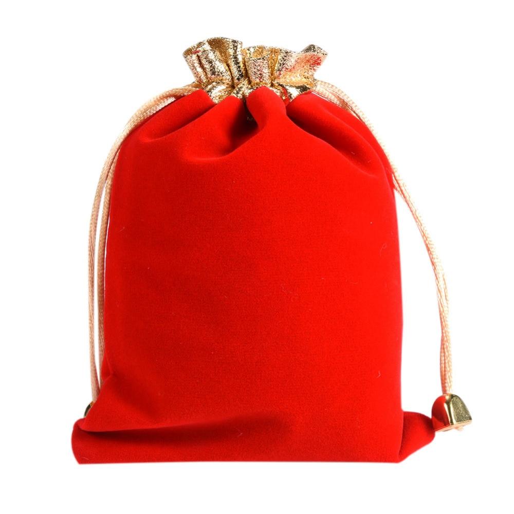 Wedding Gift Pouches: 10pcs/lot High End Soft Velvet Bags Drawstring Wedding